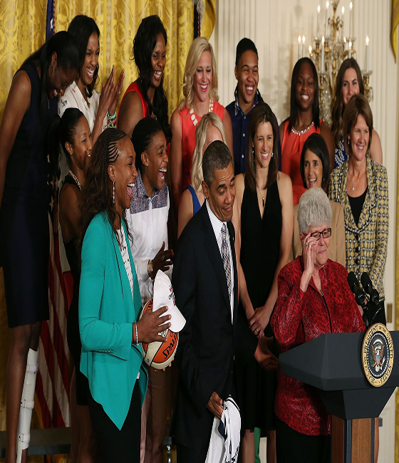 Fever team honored at the White House