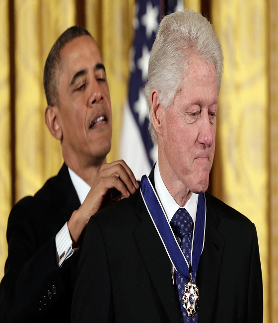 President Obama awards Medals of Freedom to Bill Clinton, Oprah Winfrey.