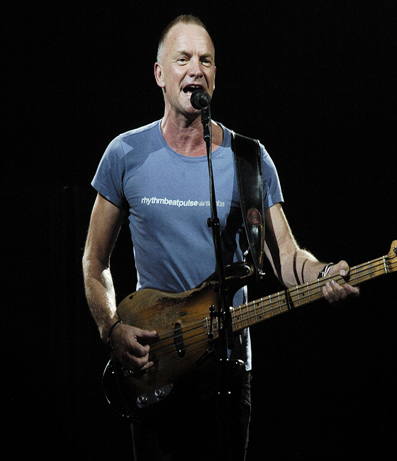 Sting brings his best stuff to Pier Six