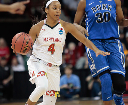 maryland lexi brown dribbles