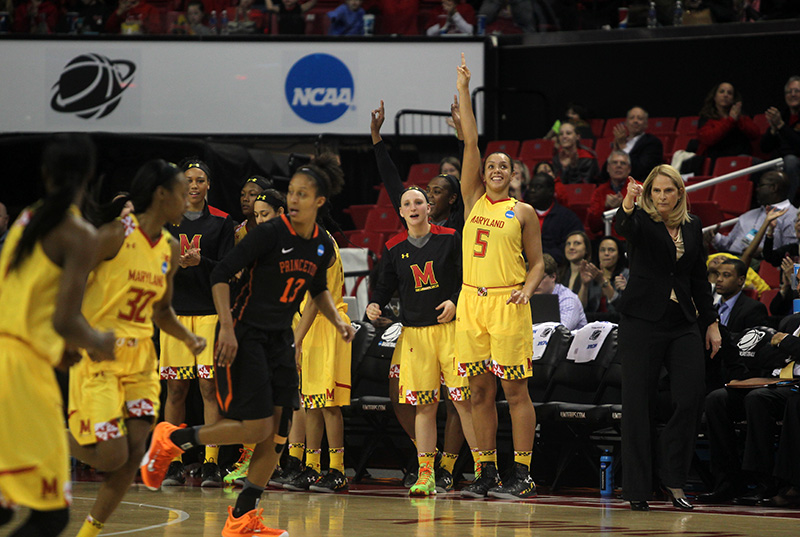 Lady Terps Hand Princeton Their First Loss, 85-70, Move on to Sweet 16
