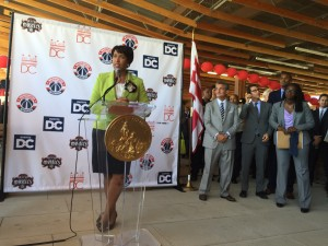 D.C Mayor Muriel Bowser Announces a New Sports/ Practice Complex for Mystics and Wizards in Congress Heights