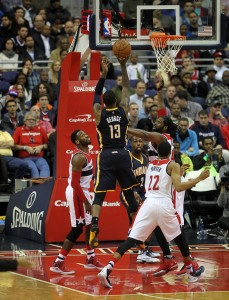 Pacers Forward Paul George Unleashed A Shot for 2 of his 40 points scored tonight