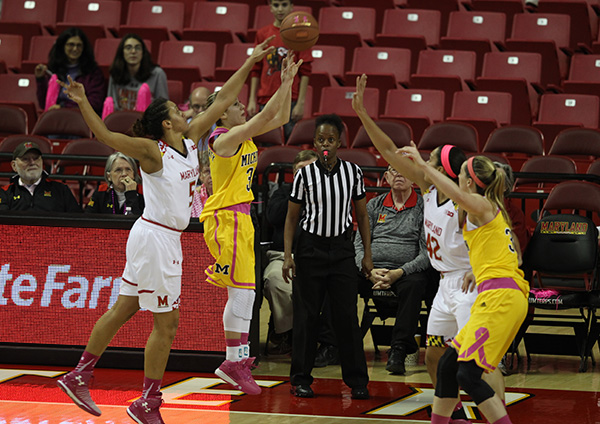 Terps Play for Kay, Knock of Wolverines, 76-56 Behind Second Half Push from Brionna Jones