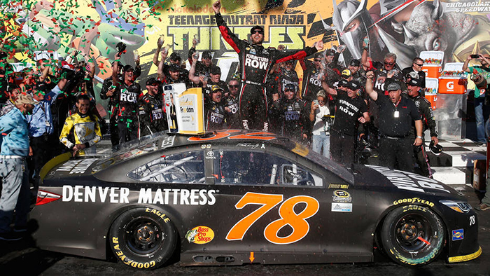 Truex Wins First NASCAR Chase Race at Chicago, Fined with Jimmie Johnson After Failing Post Race Inspection