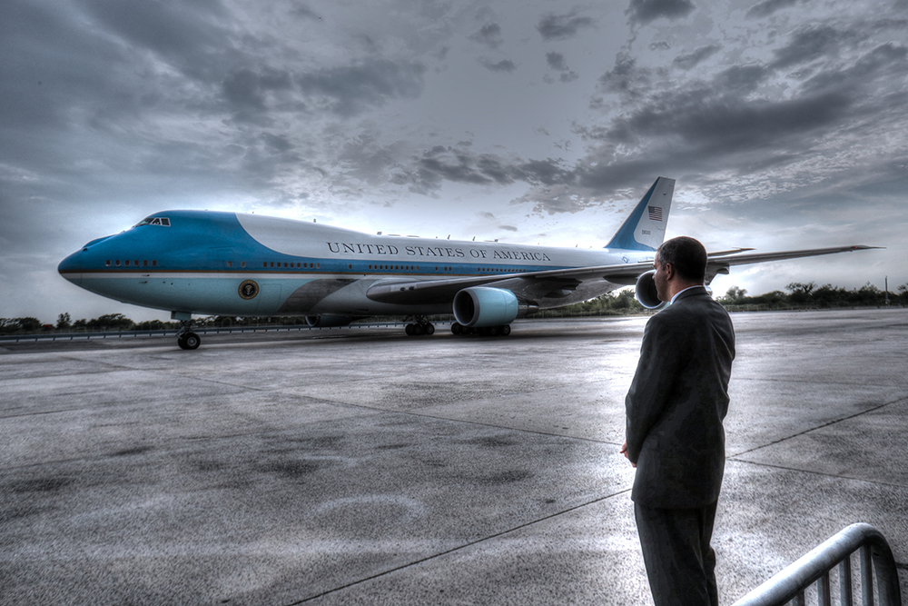 President Obama Arrives in New York, For What May be Final Trip to the City and Final Arrival of SAM 28000
