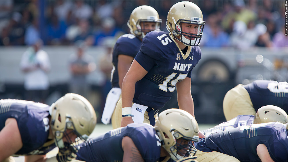 Air Force tops Navy to stay undefeated.