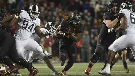 Terps Earn Solid Win Against Michigan State, 28-14