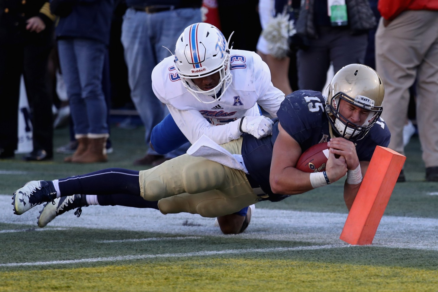 Will Worth accounts for four TDs, leads Navy past Tulsa 42-40