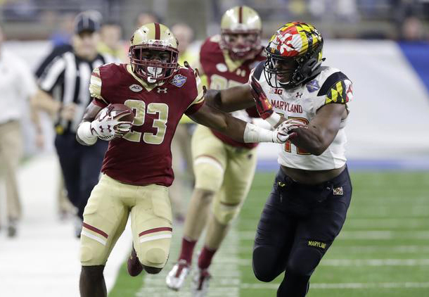 Terps Mistakes Cost Quicklane Bowl Victory, Boston College Holds off Rally in 36-30 Victory