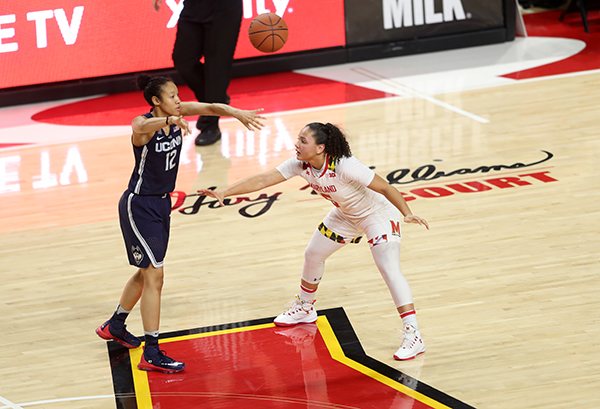 Terps Keep It Close, But UCONN Women Overpower in 87-81 Loss