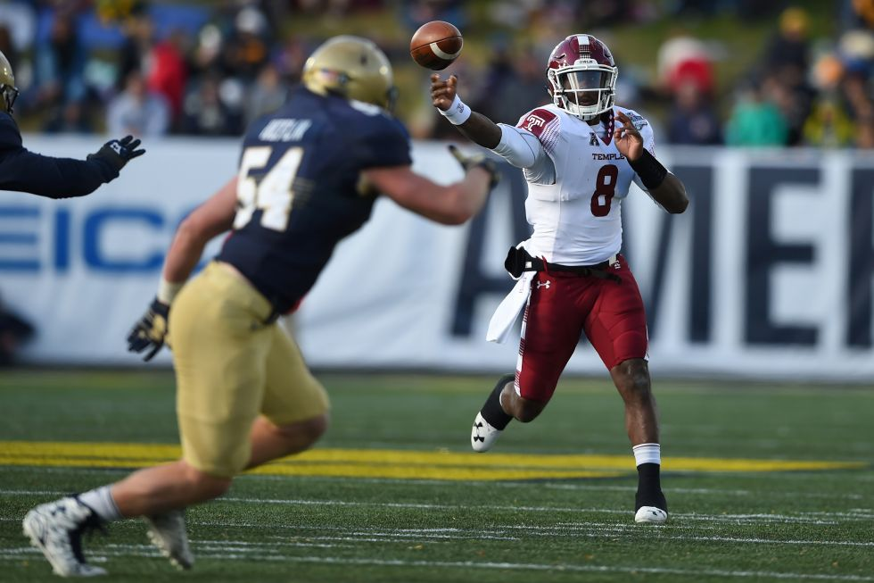 Temple routs Navy to win AAC title.