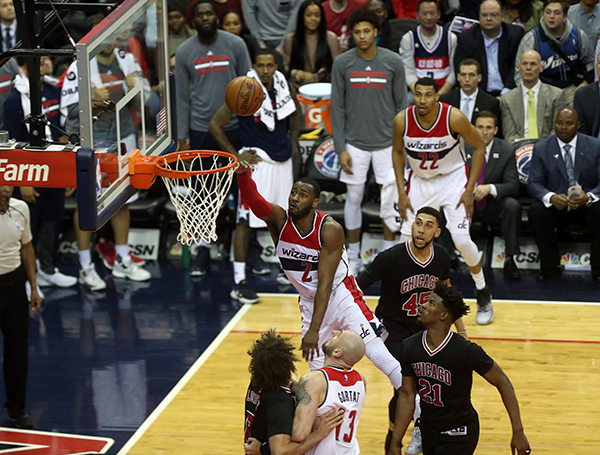 John Wall Assists Wizards to a Victory Over Wade-less Bulls, 112-107