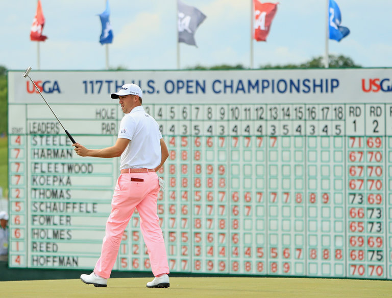 Justin Thomas Breaks U.S. Open Record as Brian Harman Seizes the Lead