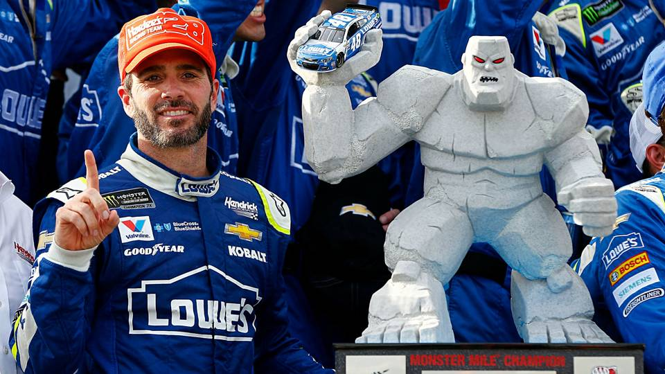 Jimmie Johnson Wins AAA 400 at Dover After Overtime Restart