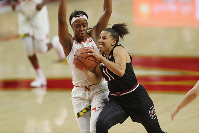 Lady Terps Rally, Fall Just Short to Defending National Champions South Carolina, 94-86