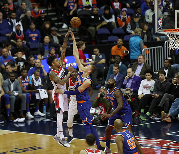 John Wall Drops his Own BOMBOGENESIS on the Knicks in 121-103 Victory