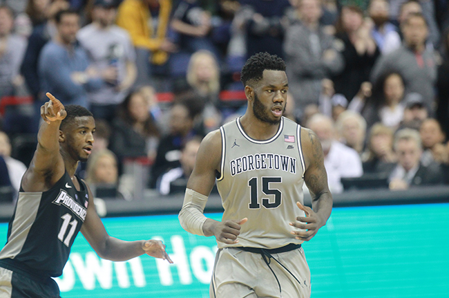 Hoyas Can't Break Losing Streak to Providence, Falter in Second Half to a 73-69 Loss