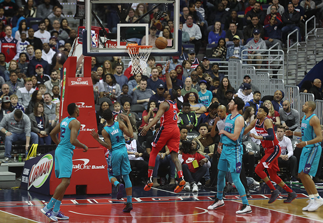 Wall Returns to Line-Up, Wizards Clinch Playoff Spot in 107-93 Victory Over Hornets