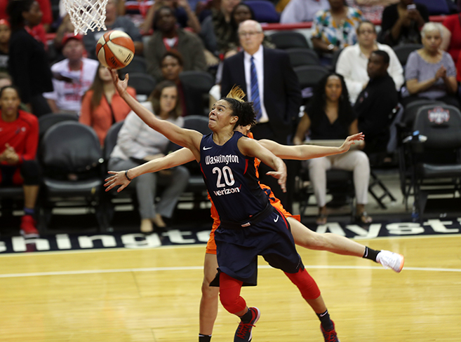 Mystics Dominate Sun, 92-80, Claim First Place in Eastern Division