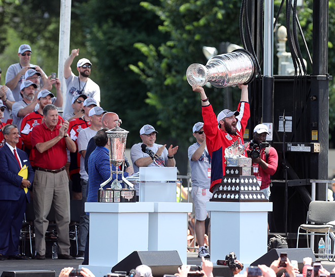 Capitals Parade Through Downtown D.C, Champions Put on Show for Hundred of Thousands