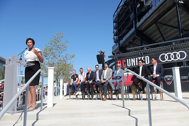 D.C United Open Audi Field With Ribbon Cutting Ceremony
