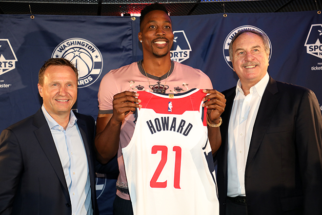 Wizards Introduce Dwight Howard to the D.C Family