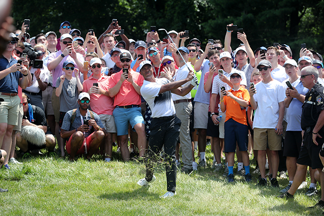 Tiger Shoots 68 to Put Himself In Contention to Win Sunday at Quicken Loans National