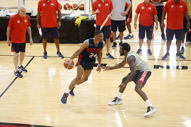 USA Basketball Completes Day One of Mini Camp, Notables Missing, Stef, Lebron and Cousins
