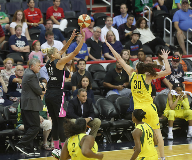 Mystics Win Another Behind Elena Delle Donne's 30 Points