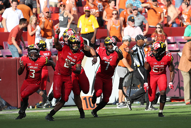 Terps Defeat Texas For Second Straight Year, 34-29, Team Does it for Jordan McNair