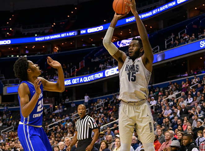Hoyas Hold Off Central Connecticut State, 85-78 Behind 26 Points from Jesse Govan