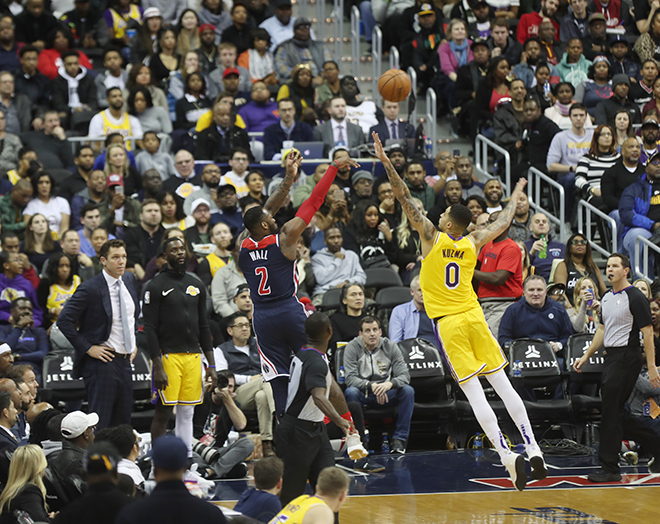 Wall Sticks It to LeBron and the Lakers, 128-110