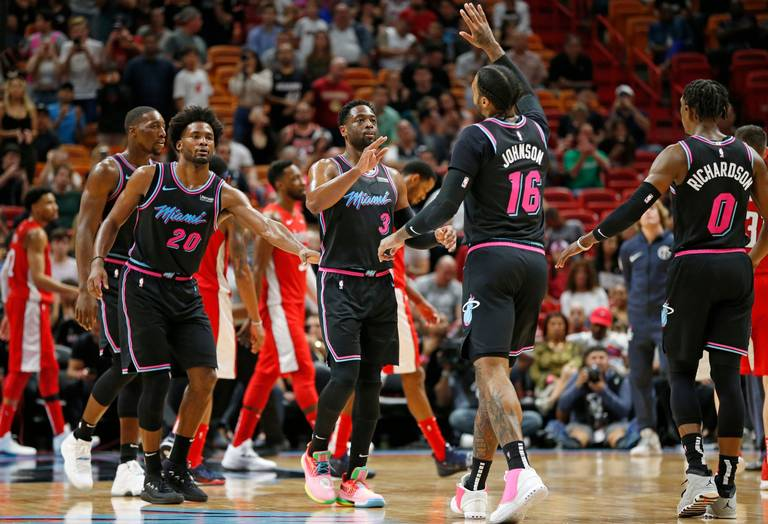 Wizards Fall to Heat, 115-109, Helping Miami to First Winning Record Since October