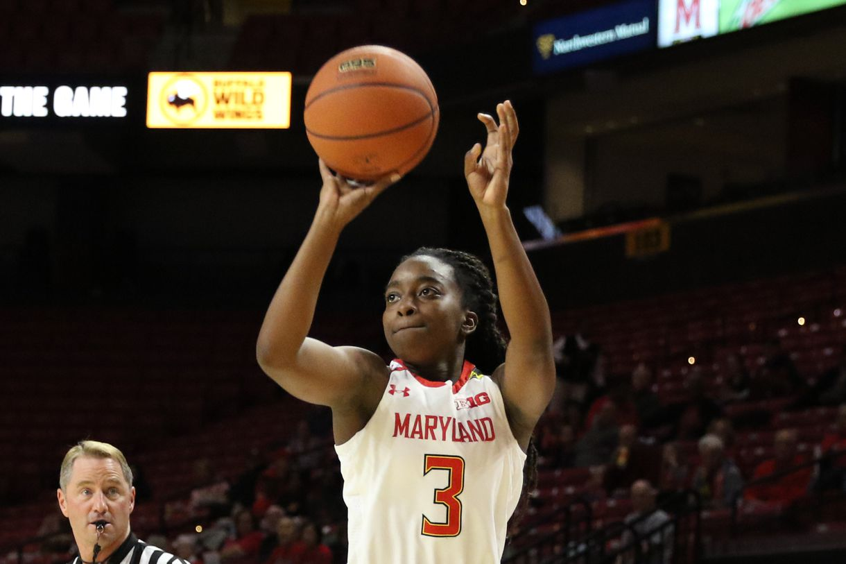 Maryland Women Claim Top Spot in Big 10 With Solid, 72-57 Victory Over Northwestern