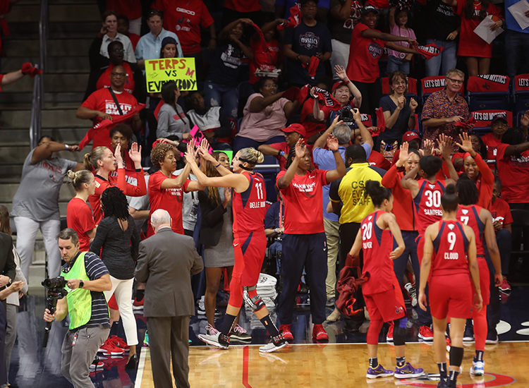 Mystics Drop Game 2, As Elena Delle Donne Exits With Back Spasms