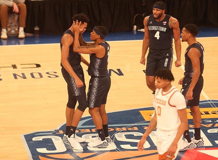 Georgetown Plays Best Game of the Early Season, Upsets No. 22 Texas in 2K Classic, 82-66