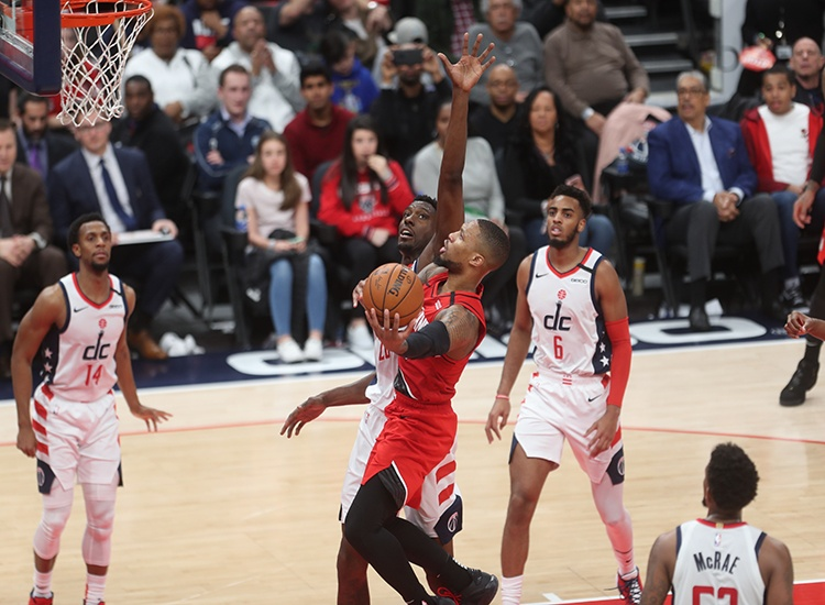 Wizards No Match for Streaking Blazers in 122-103 Loss